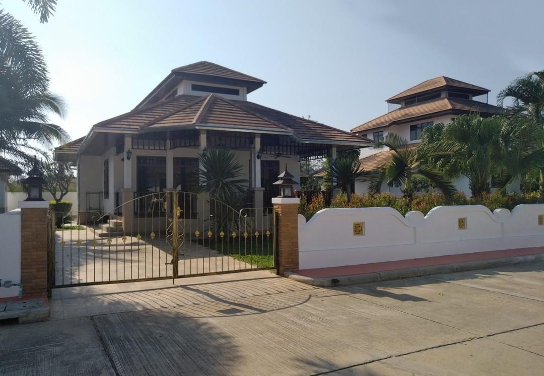 Front exterior of Villa Busaba B1 in Manora Village, Hua Hin, Thailand