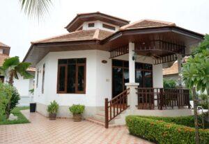 Front exterior of Villa Natalie A12 in Manora Village, Hua Hin, Thailand