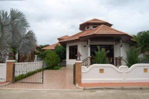 Front exterior of Villa Natalie A7 in Manora Village1, Hua Hin, Thailand