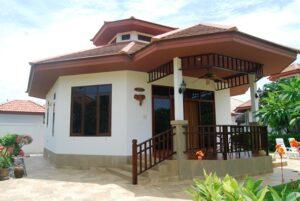 Front exterior of Villa Natalie A7 in Manora Village II, Hua Hin, Thailand