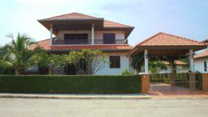 Front exterior of Villa Royale F2 in Manora Village, Hua Hin, Thailand