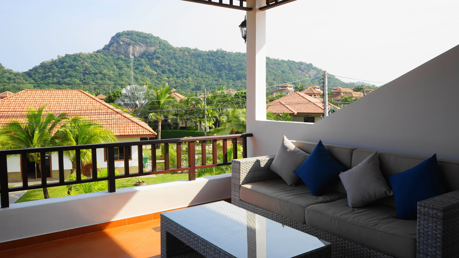 Balcony of Villa Royale F3 in Manora Village III, Hua Hin, Thailand