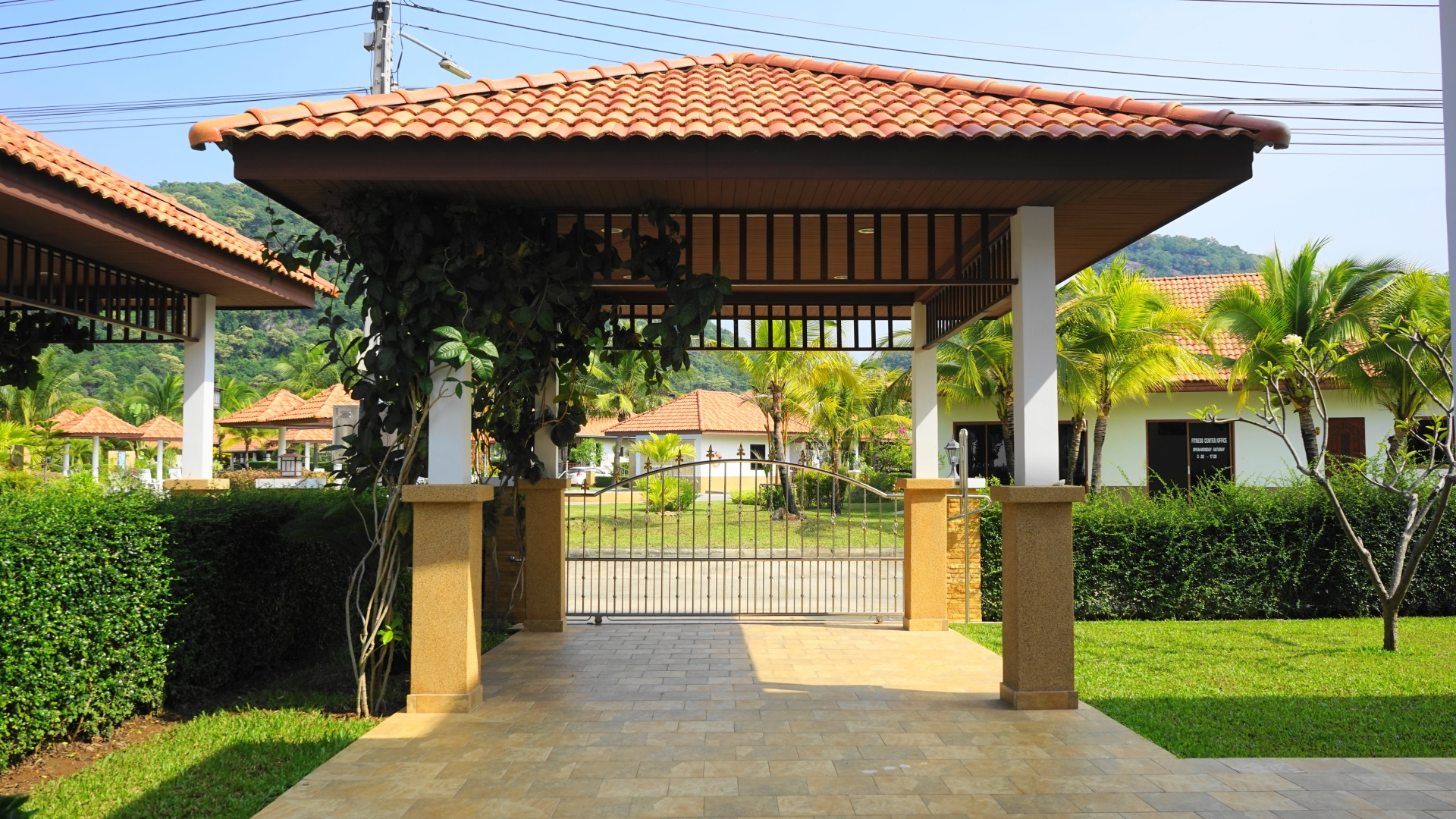 Car Port of Villa Royale F3 in Manora Village, Hua Hin, Thailand