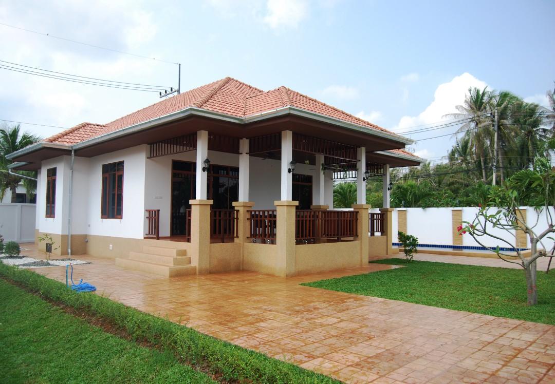 Front exterior of 2 bedroom villa in Manora Village Hua Hin, Thailand