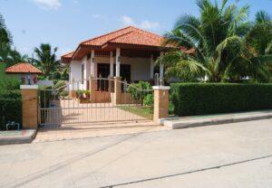 Front exterior of Villa Selina D4 in Hua Hin, Thailand.